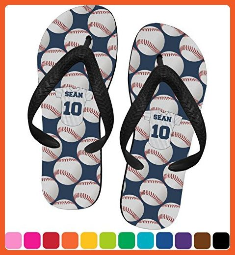 a5b34fdbc0be68 Baseball Jersey Flip Flops - XSmall (Personalized) - Sandals for women  ( Amazon Partner-Link)