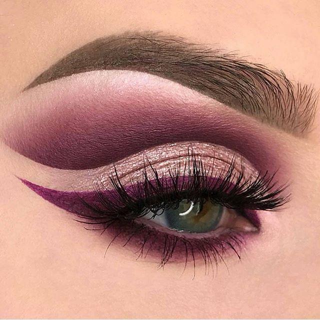 Rich deep jewel tones eye makeup