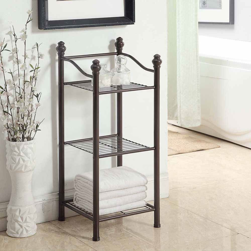 p>Three wire shelves provide improve storage space to place any ...