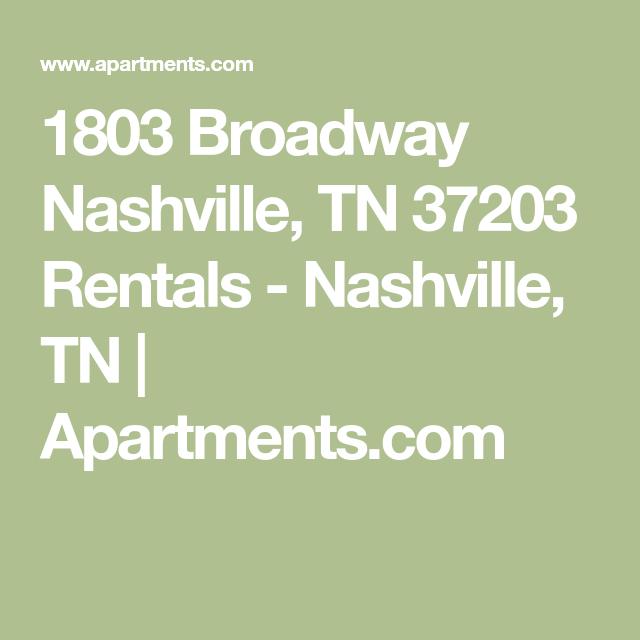 Nashville Tennessee Apartments For Rent: 1803 Broadway Nashville, TN 37203 Rentals