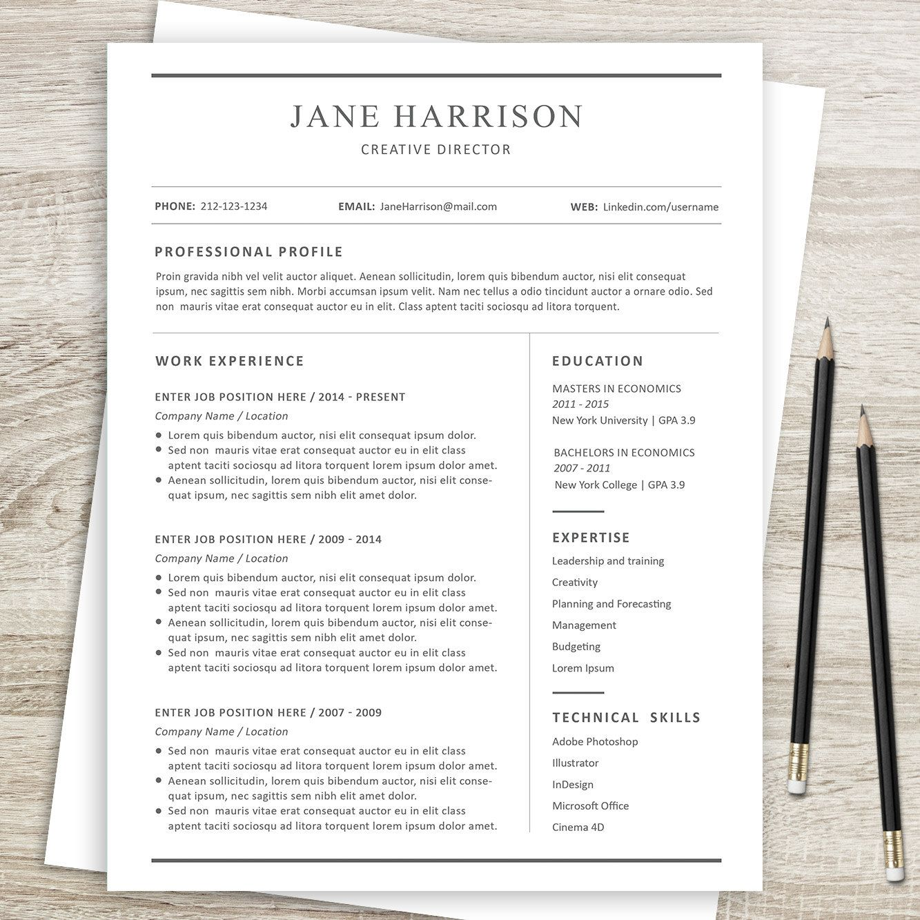 Word Resume Template 2007 Ms Word Resume Template & Cover Letteralso Available In Photoshop .