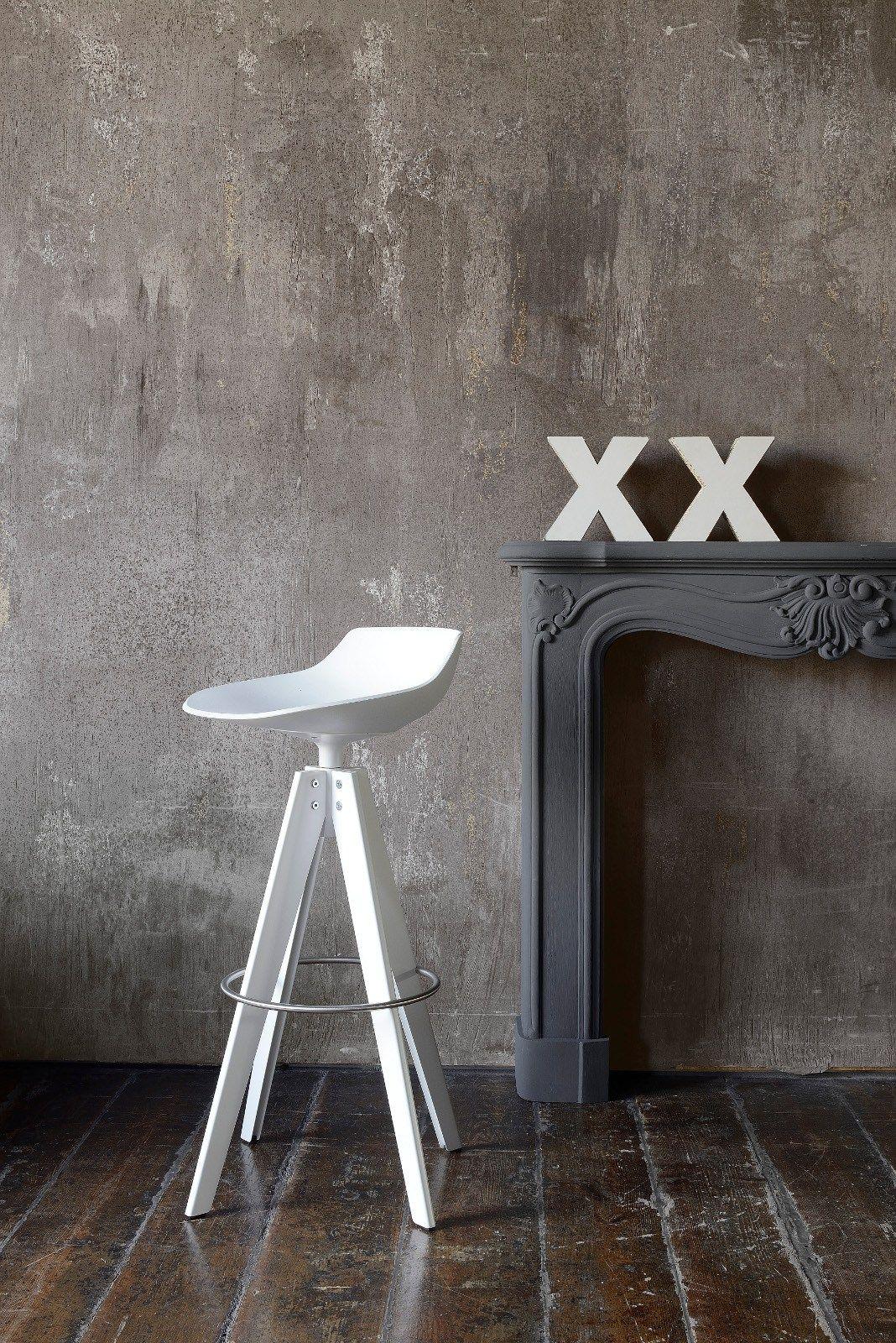 High swivel trestle-based stool FLOW STOOL | High stool - MDF Italia ...