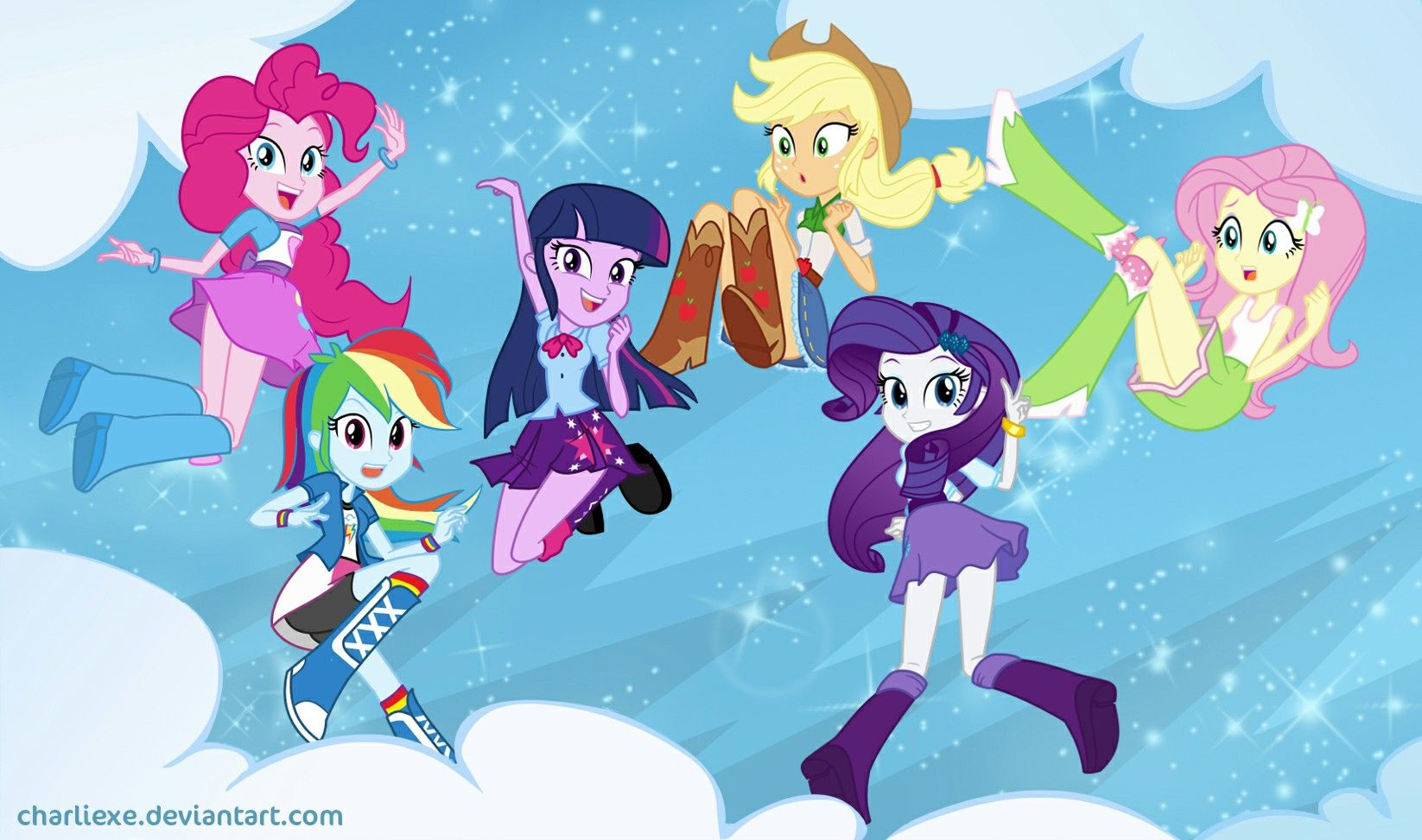 - Equestria Girls Twilight Sparkle Rainbow Dash Applejack Rarity