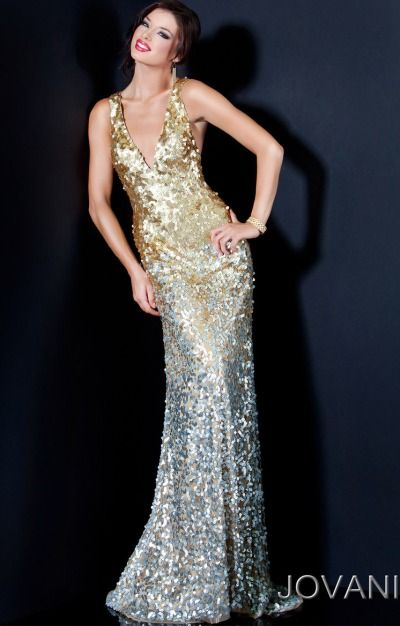 a814dcba79 Gold Bridesmaid Dress. Elegant and Glamorous. Jovani Gold and Silver Ombre  Sequin Long Prom Dress 11002 at frenchnovelty.com