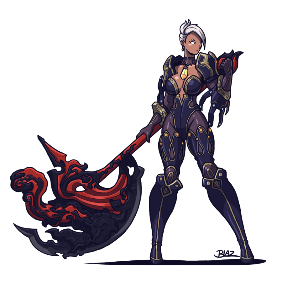 Blade And Soul Destroyer By Blazbaros Blade And Soul Female Knight Warrior Girl