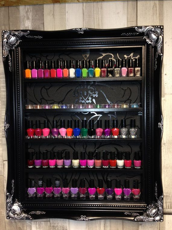 Esmalte de uñas Rack almacenamiento gabinete por ChicybeeDisplayUK ...
