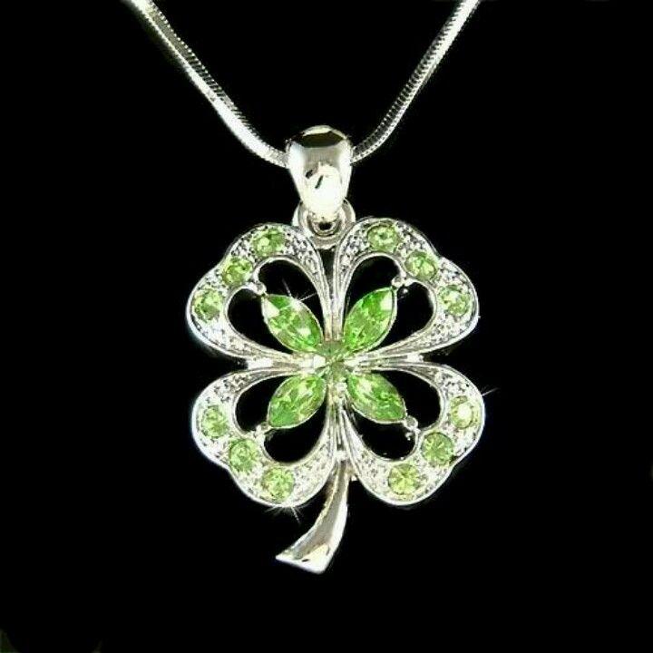 7f13c563f0bd40 Swarovski Crystal Irish Four Leaf Clover Good Luck Shamrock ...