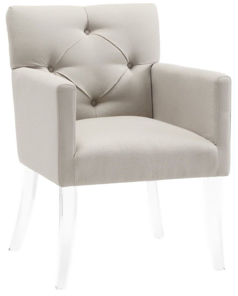 Tov Furniture Lafayette Beige Linen Acrylic Chair Tov A87  # Muebles Lafayet