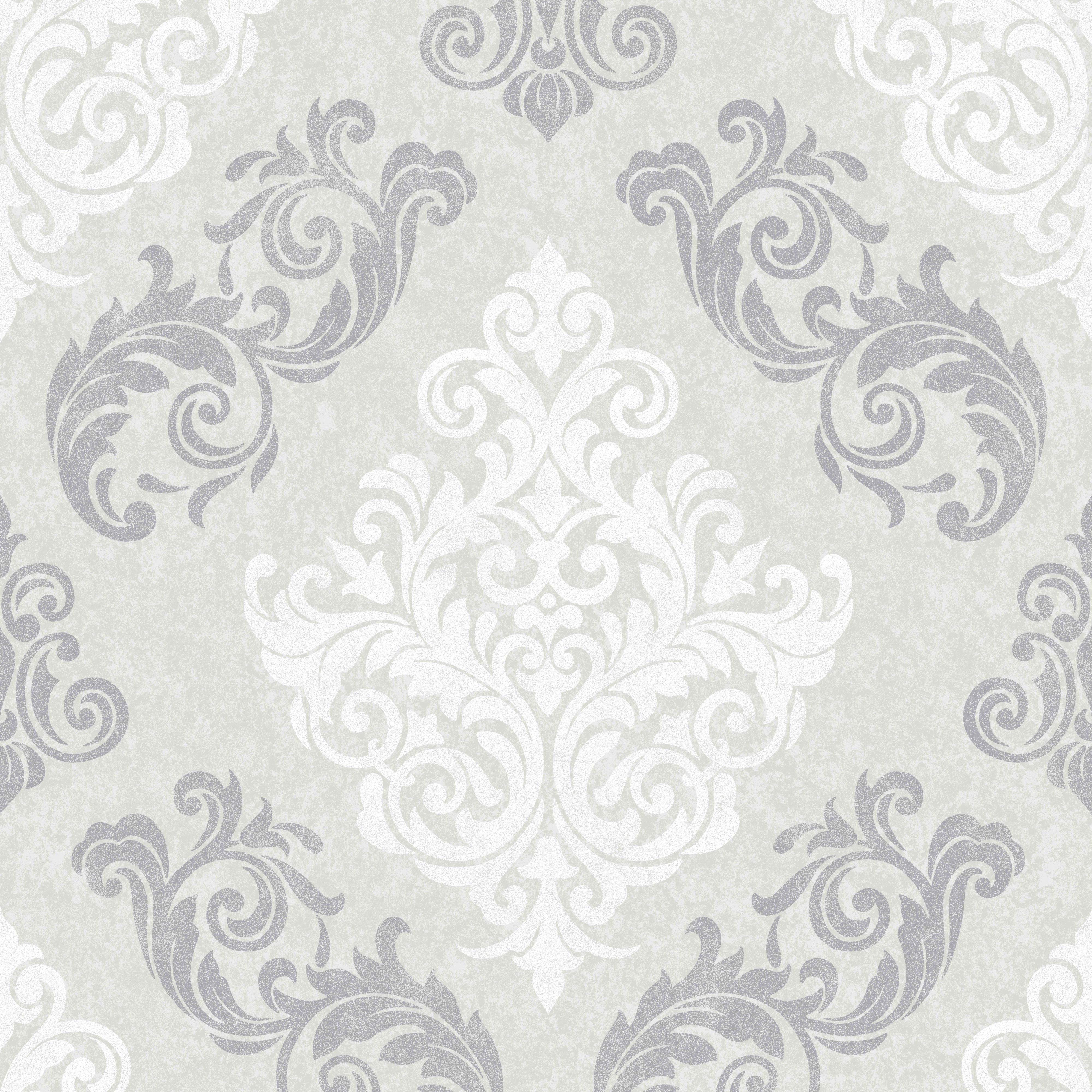 Graham   Brown Elegance Silver Damask Mica Wallpaper   Departments   DIY at  B Q. Graham   Brown Elegance Silver Damask Mica Wallpaper   DIY and