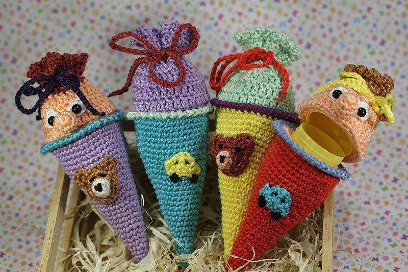 Häkelanleitung Ü-Schultüte / Ü-Zuckertüte | crochet | Pinterest ...