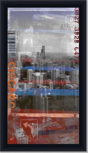 Chicago sky 20 27x47 Canvas Laminate Artwork | Custom Framing ...