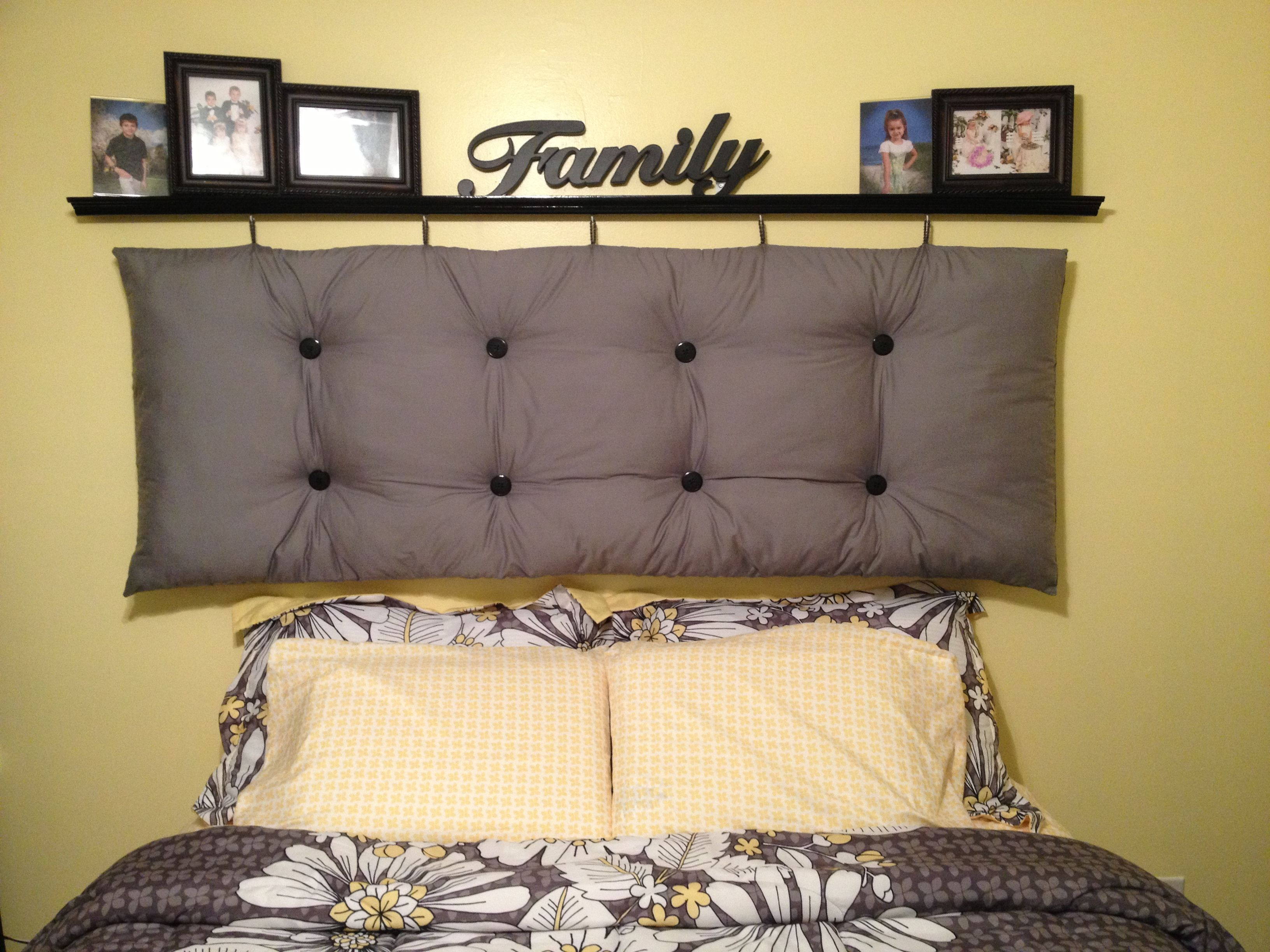 Affordable Diy Headboard Material, Buttons, Foam And Stuffing From Walmart