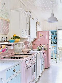 "Might be a bit ""precious"" but it makes me smile!  I love the pink fridge!"