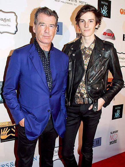 Grammys 2015 // Pierce Brosnan & Dylan Thomas Brosnan