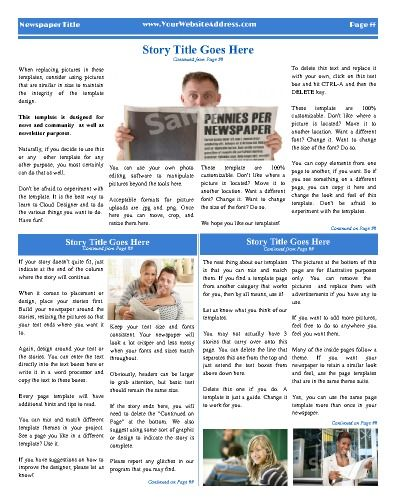 All Purpose Inside Page Template With 4 Columns Try This 11 X14 Newspaper Now Using Our Free Cloud Designer