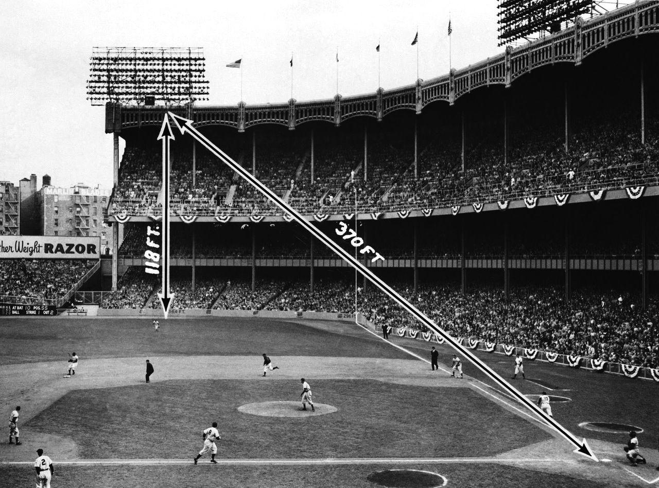 Mickey Mantle Home Run Yankee Stadium May 30 1956 Yankee Stadium New York Yankees Stadium Baseball Stadium