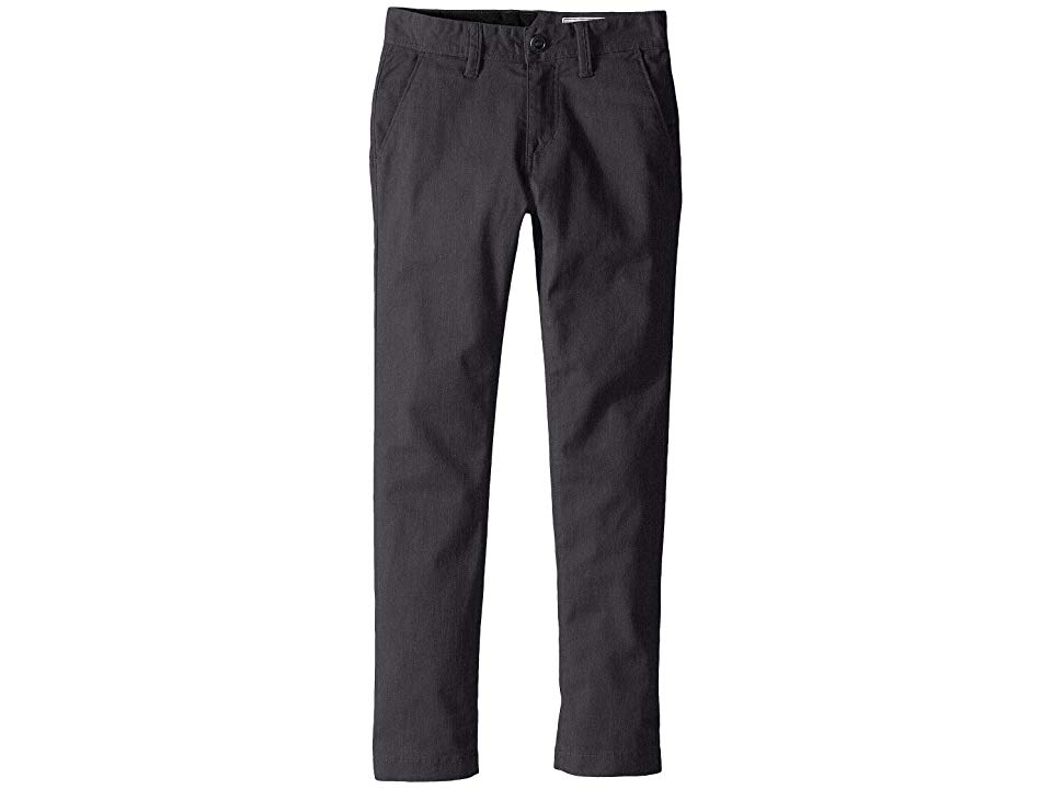 Volcom Kids Frickin Modern Stretch Chino Pants Big Kids Charcoal Heather Boys Casual Pants Stop frickin around and cop these legit chino pants before your swagger gets ta...