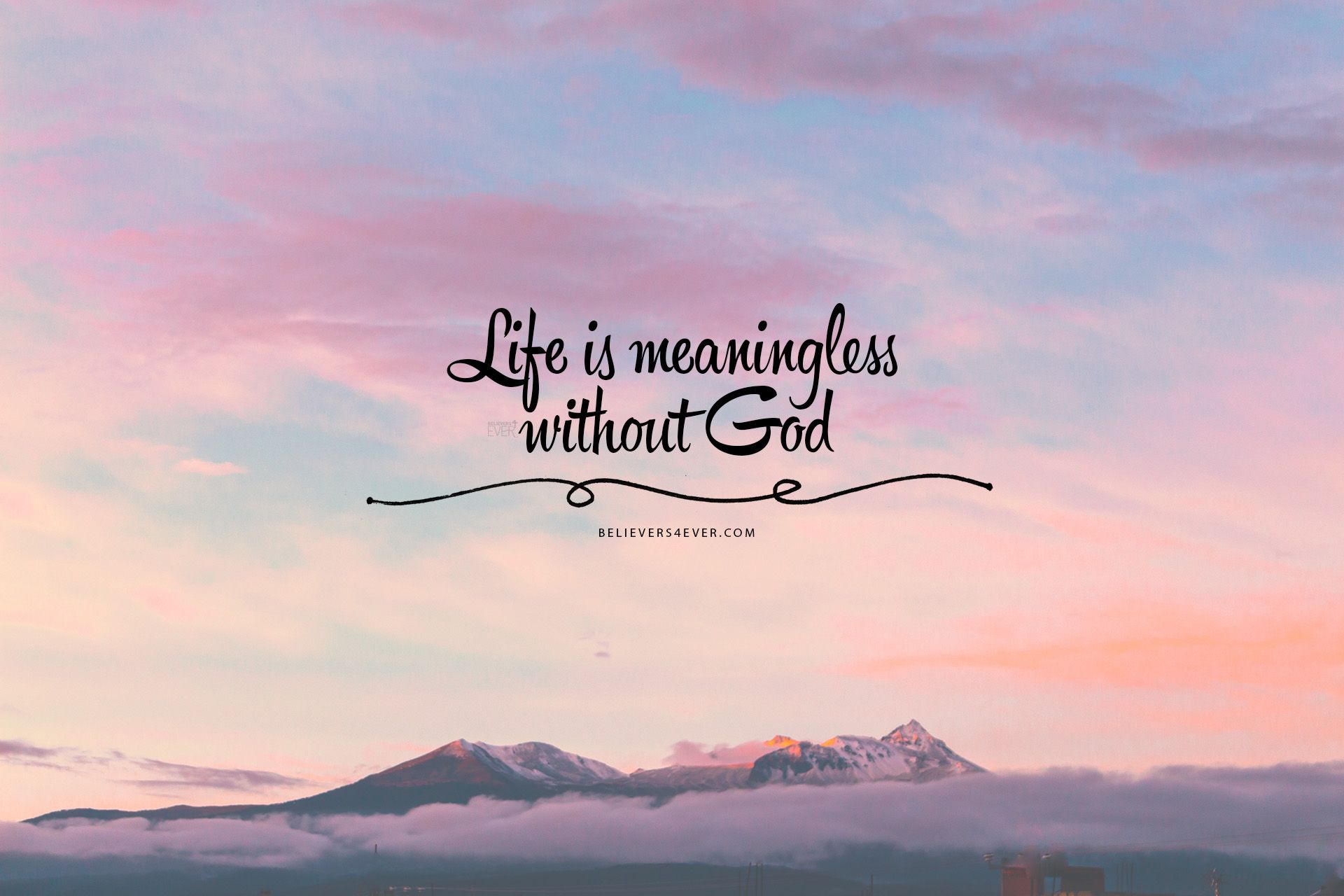 Life is meaningless without God | Baptism | Bible verse desktop wallpaper, Bible verse wallpaper ...