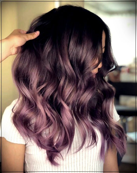 Chocolate lilac: the ideal hair color for those who want a subtle changeShort and Curly Haircuts