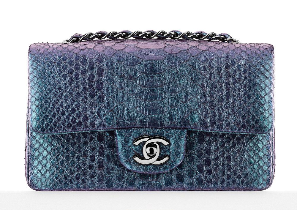 35365100ba7856 Chanel Small Python Classic Flap Bag | Chanel Dreams | Chanel dubai ...