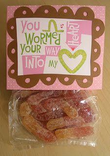 Valentine Freebie gummie worms theme