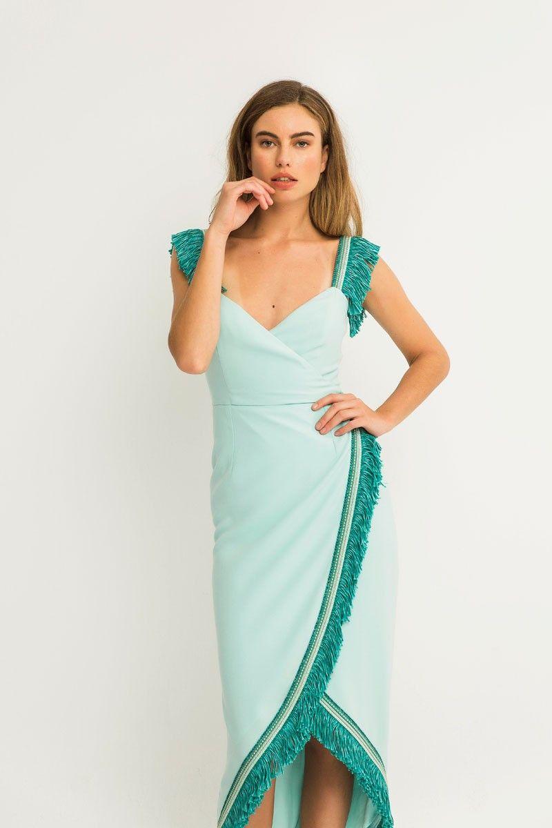 Vestido azul marino invitada comunion