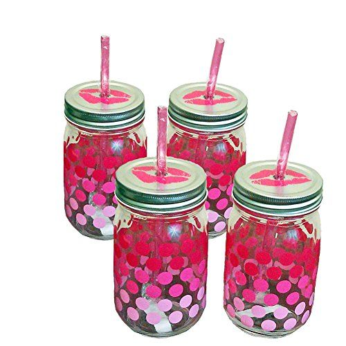 Hot Pink Lips Mason Drinking Jars with Lids and Straws Set of 4 Randa http://www.amazon.com/dp/B011S6YVJ0/ref=cm_sw_r_pi_dp_Rk-Rwb1FNKV5G