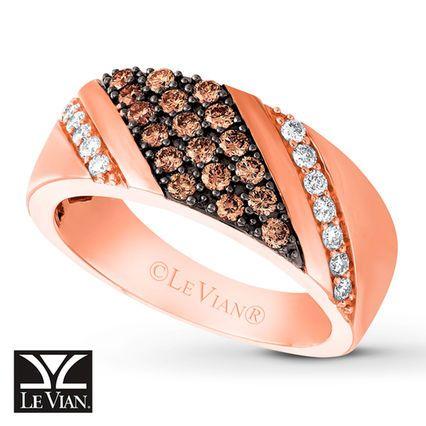 Levian Chocolate Diamonds Men S Band 7 8 Ct Tw 14k Gold