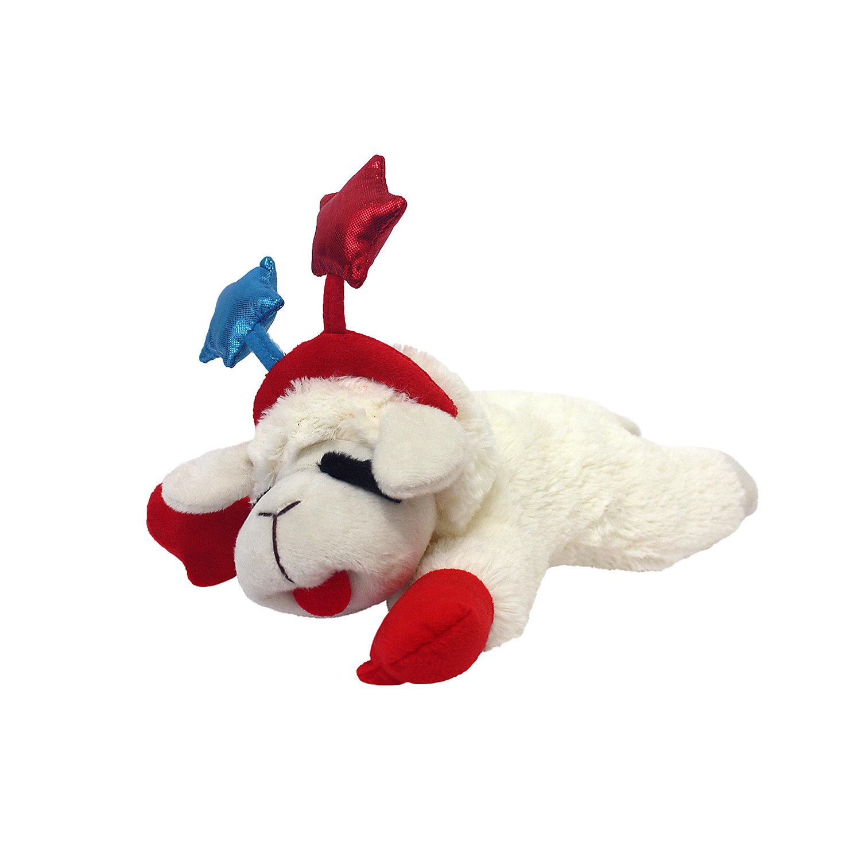 Multipet Patriotic Lamb Chop Dog Toy Dog Toys Lamb Chops Petco