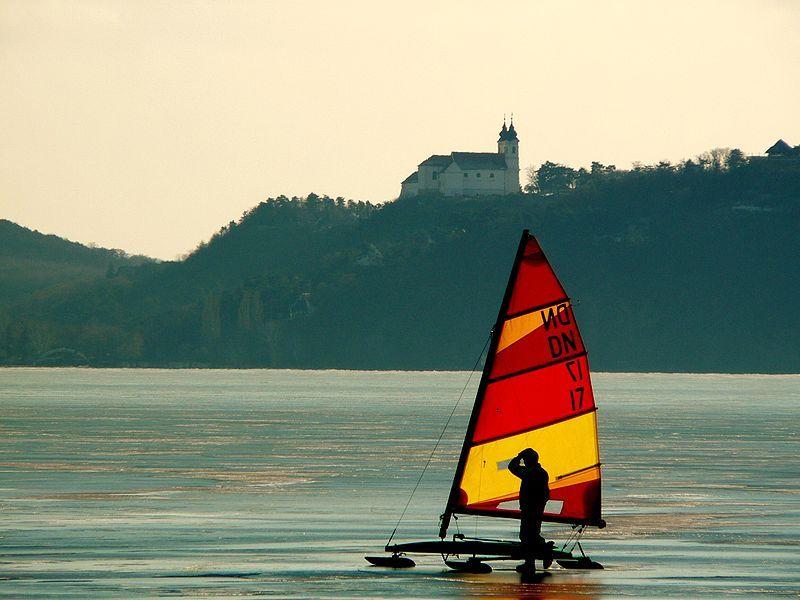 Ice sailing (preferably on Lake Geneva, Wisconsin)