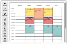 free online schedule maker very easy to use could be used for both class and personal scheduling