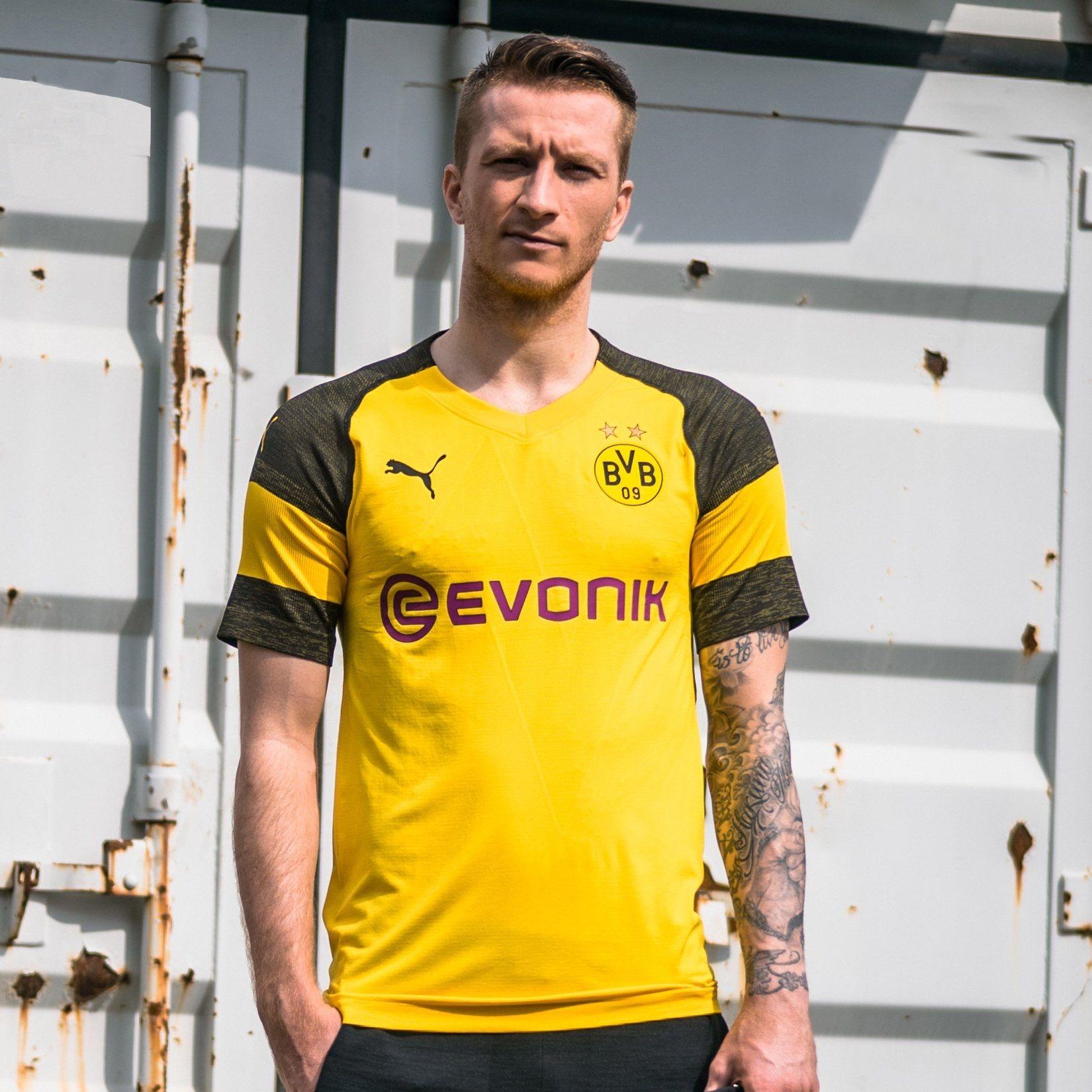 Borussia Dortmund 2018/2019 Home Kit | Marco reus, Reus, Fútbol