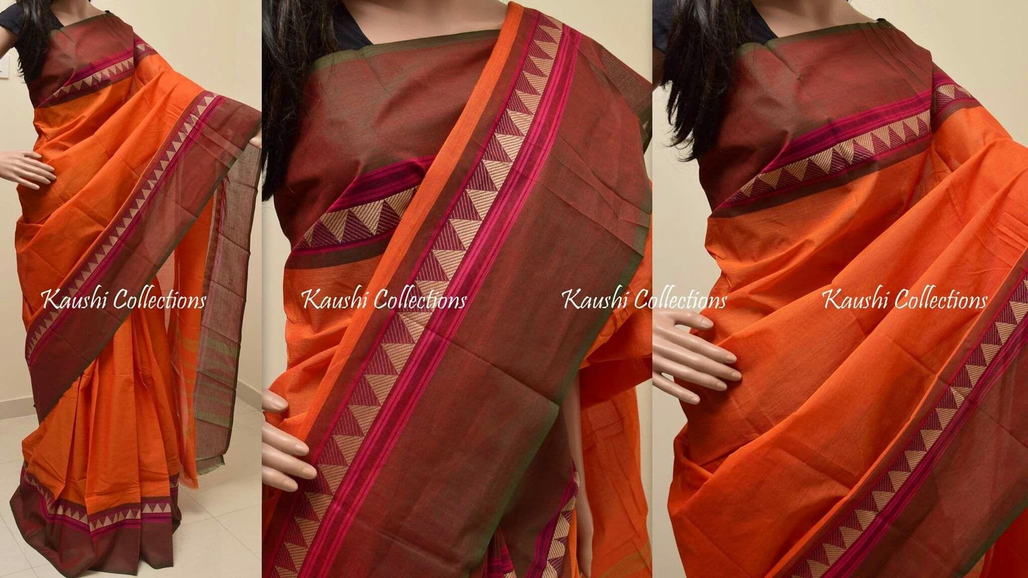 Idea by koppuravuri keerthi on orange fashion saree