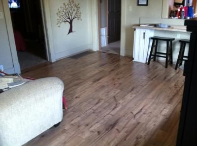 Shop Style Selections Antique Hickory Handscraped Laminate Wood Planks At Lowes Com