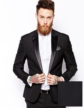 Dorian ASOS Slim Fit Tuxedo Suit Jacket | TOUCH | Pinterest | Slim ...