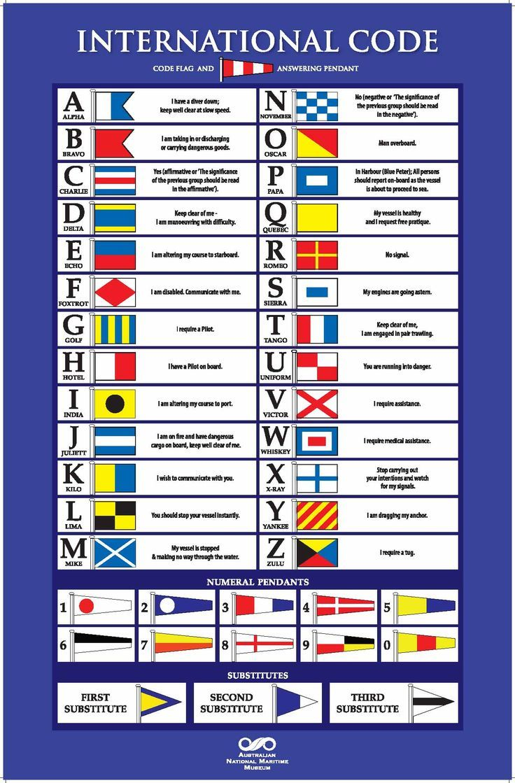 8 X 13 T Nautical // Boat // Marine International Code Naval Signal Flag