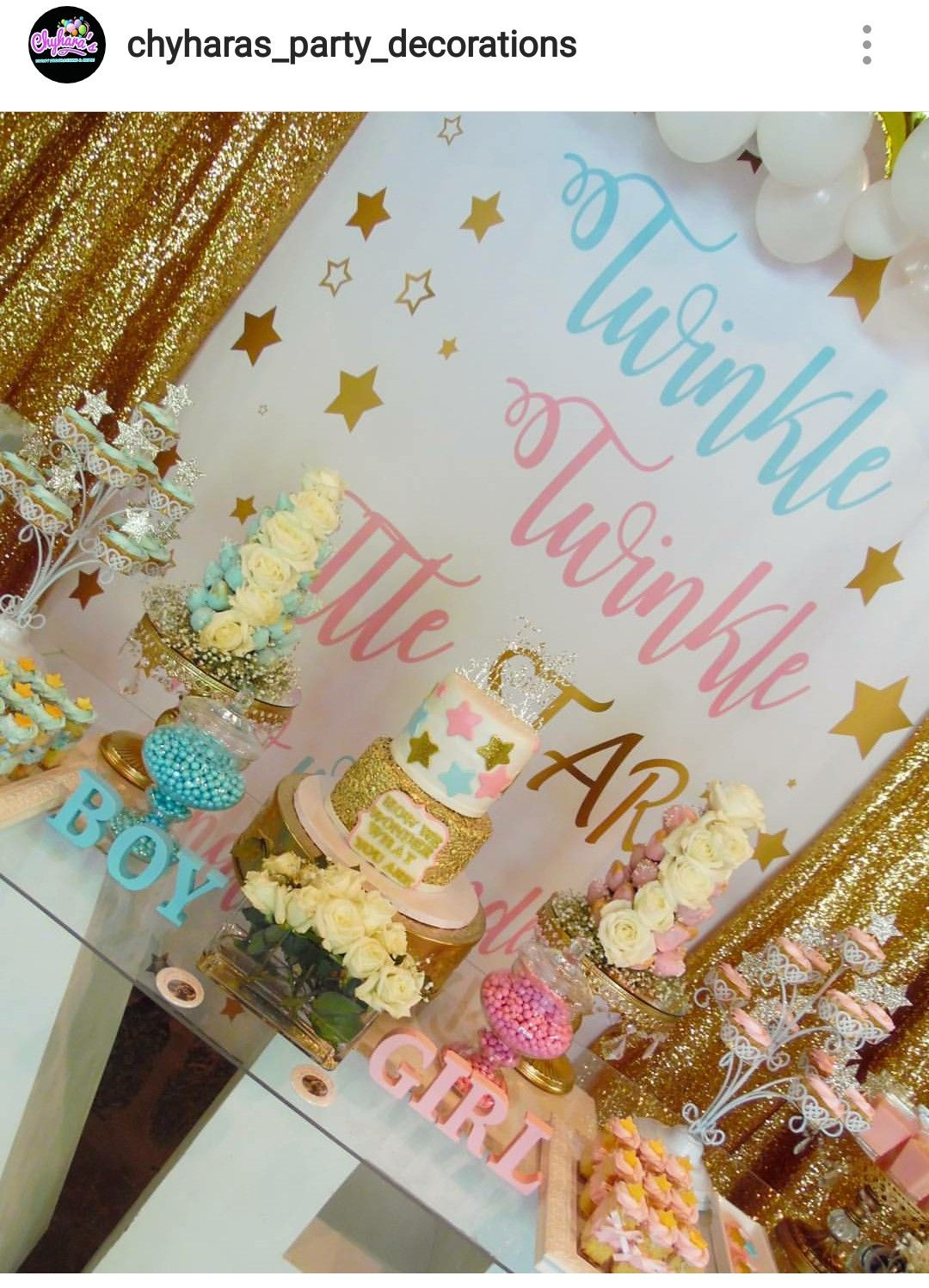 Twinkle Twinkle Little Star Gender Reveal Baby Reveal Party Baby Gender Reveal Party Gender Reveal Party Decorations