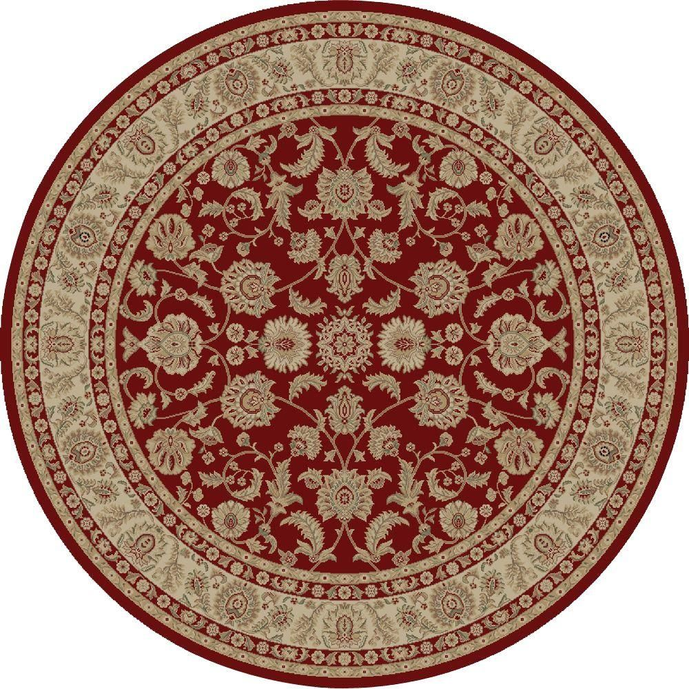 Imperial Bergama Red 5 Ft 3 In Round Area Rug Area Rugs Rugs