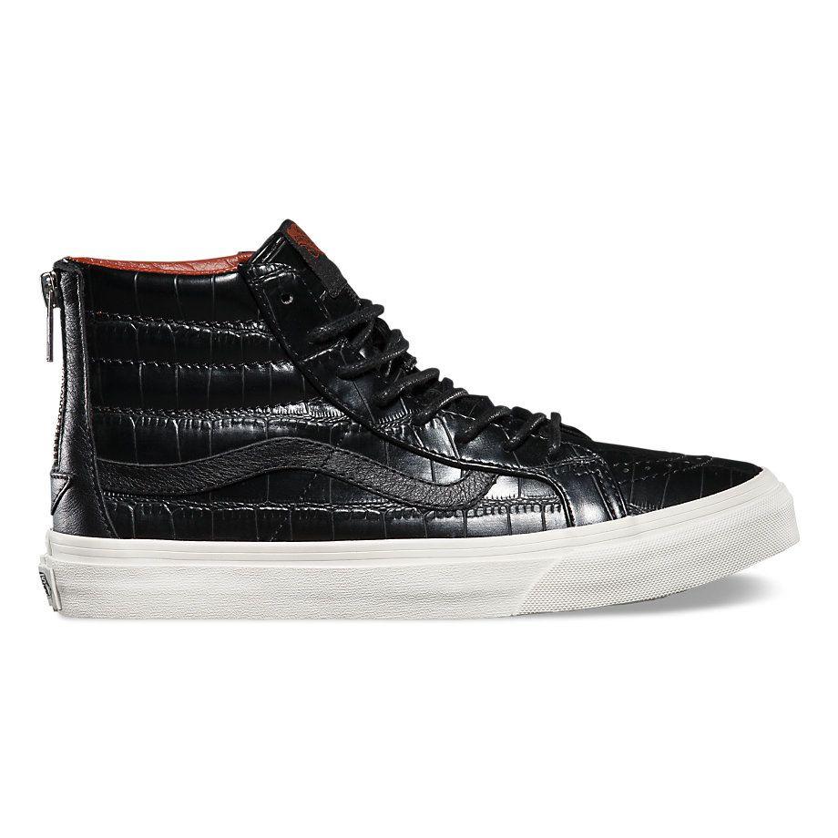 Croc Leather SK8-Hi Slim Zip