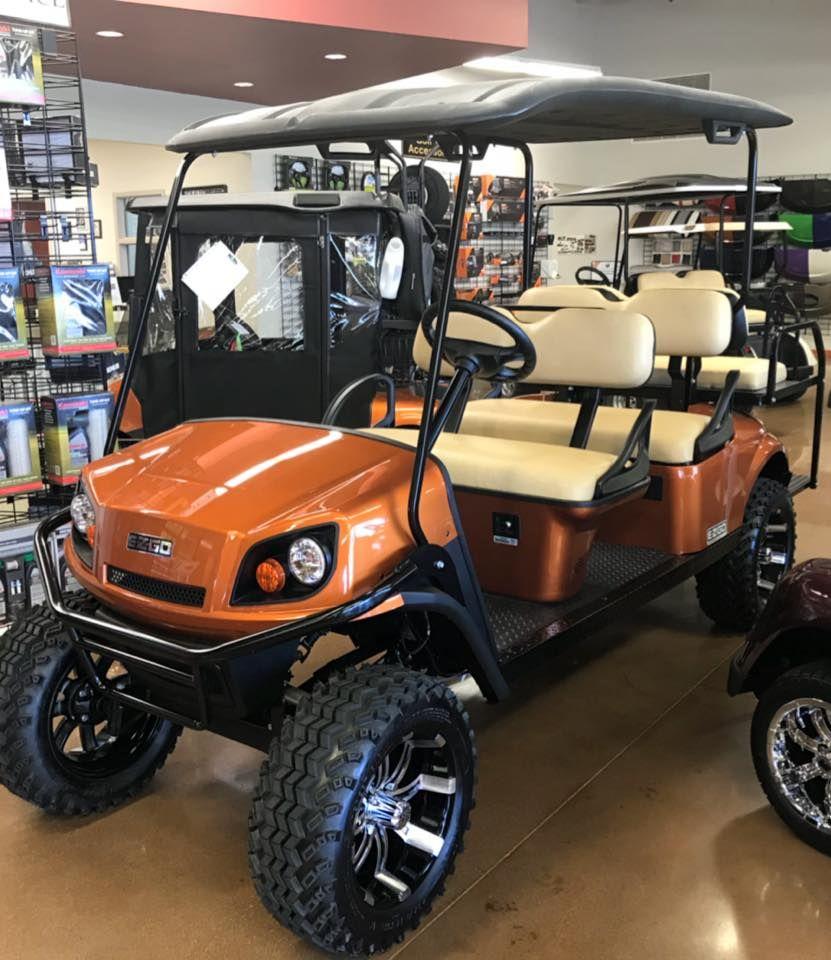 Orange 6 Seater Golf Cart Golf Carts Golf Push Cart Golf