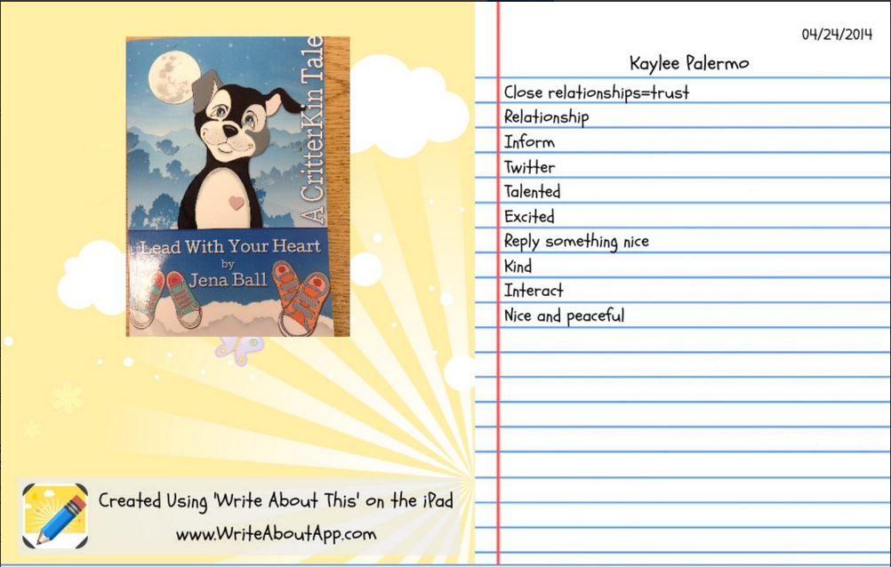 Acrostic poem by Kaylee. It is exciting to work on poetry ...