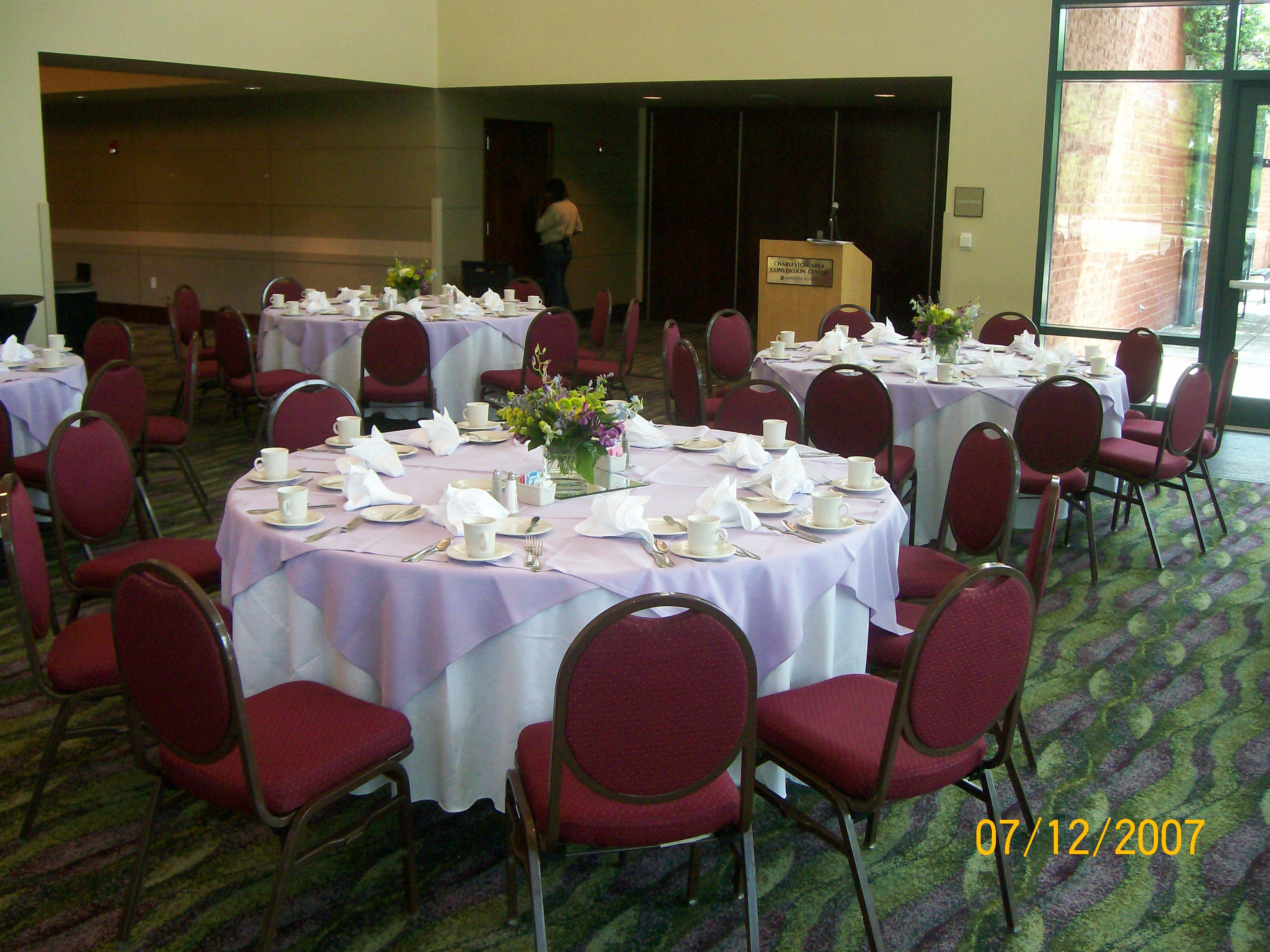 A Setting Without Chair Covers Or Sashes Chair Covers