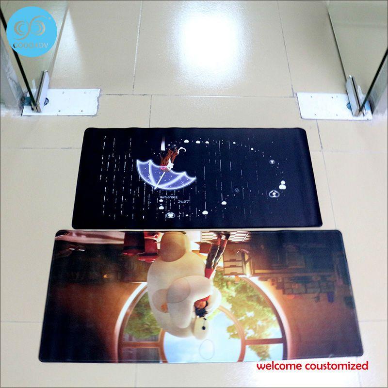 40*90cm Rubber Bedroom Floor Mats Customized Slip ...
