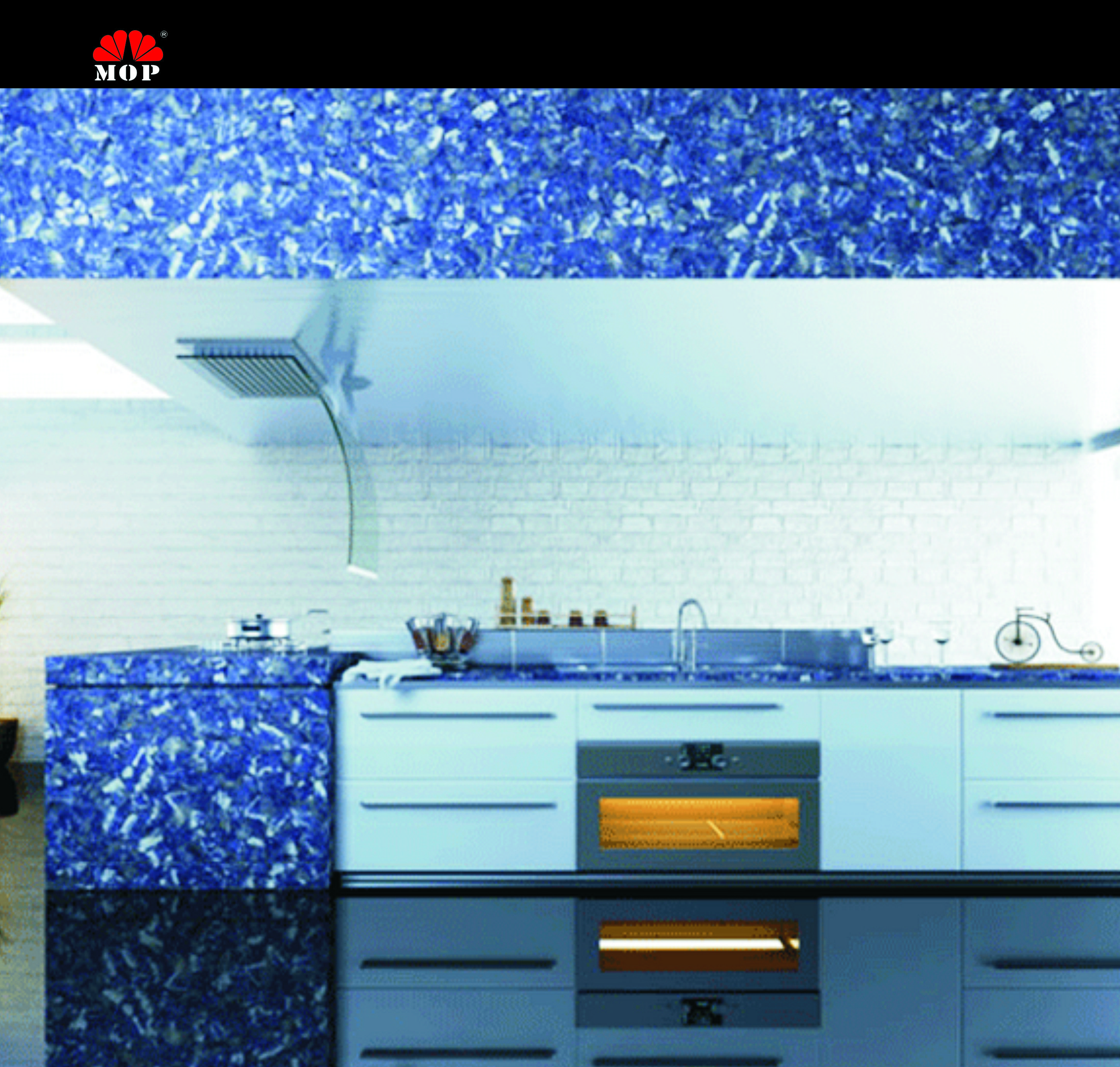 Blue-veins stone kitchen decoration slab,blue like the sky! home ...