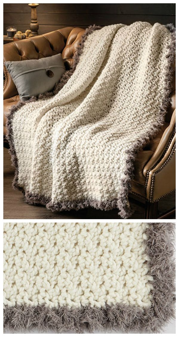 New Fur Throw Crochet Pattern Crocheted With A Large Hook And Super