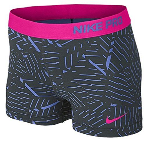 Women's Nike Pro Bash 3 Inch Shorts Polar/anthracite/hot Pink (small)