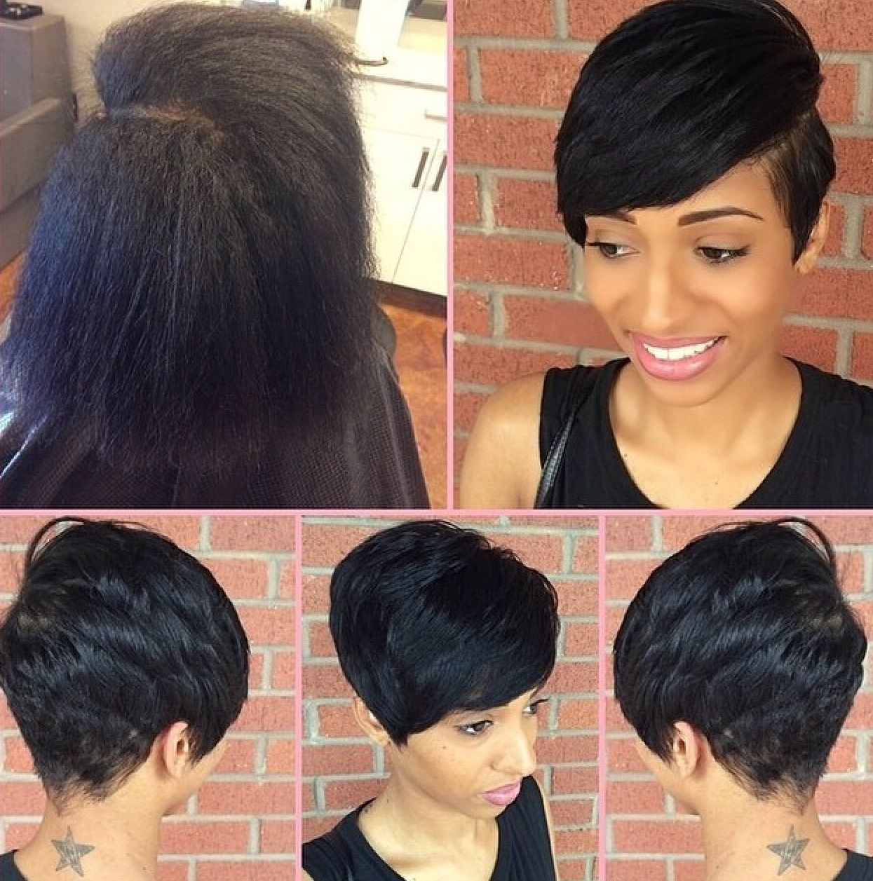 shondra's short hairstyle for black women | african american women