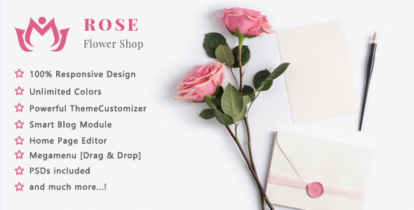 Free Download Rose Flower Shop And Florist Responsive Prestashop 1 7 Theme In 2020 Flower Shop Rose Flower Flower Store
