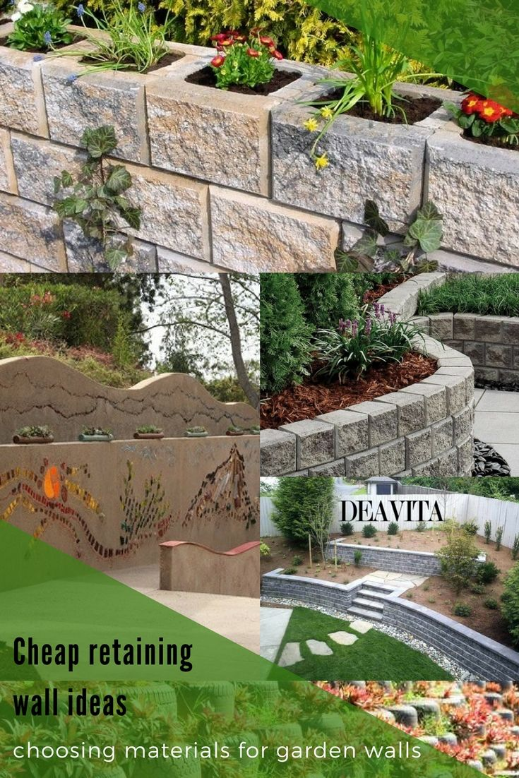 how to choose inexpensive materials for a #garden #wall? cheap