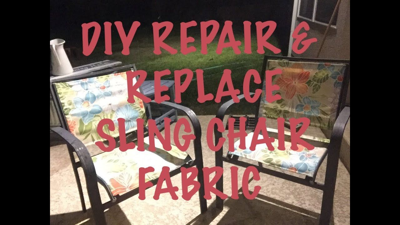 How to replace the fabric on the outdoor sling style chair